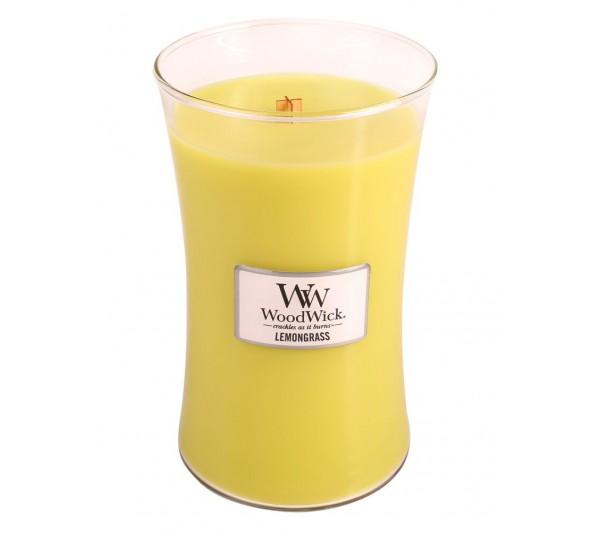 WoodWick Duża Świeca - Lemongrass