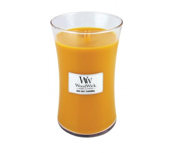 WoodWick Duża Świeca - Sea Salt Caramel
