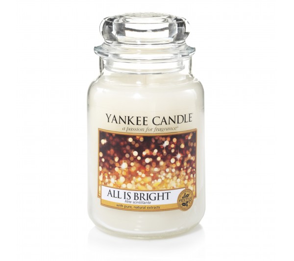 YANKEE CANDLE - Duża Świeca All is Bright
