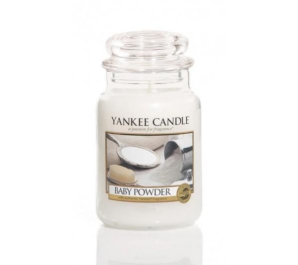 YANKEE CANDLE - Duża Świeca Baby Powder