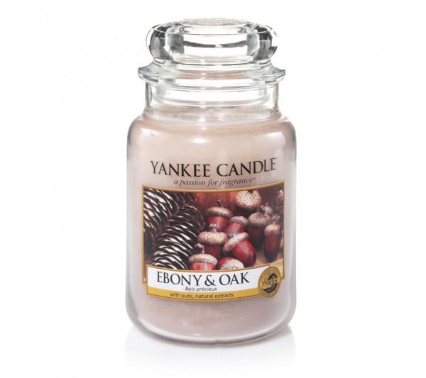 YANKEE CANDLE - Duża Świeca Ebony & Oak