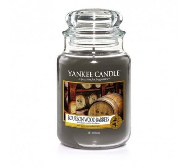 YANKEE CANDLE - Duża Świeca Bourbon Wood Barrels