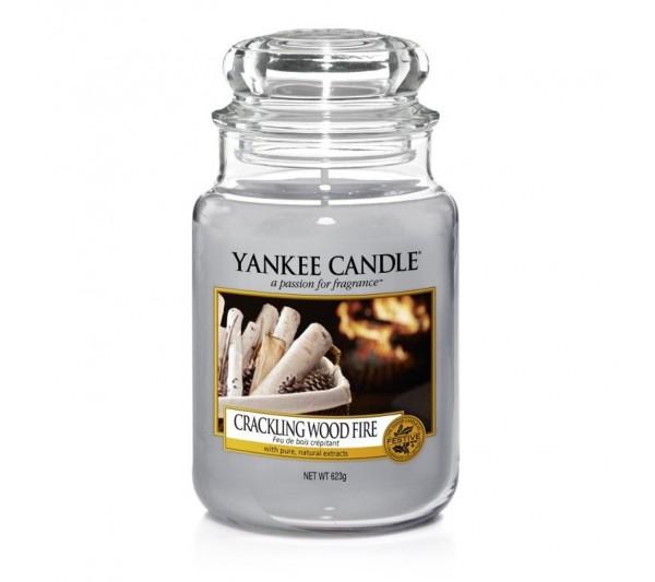 YANKEE CANDLE - Duża Świeca Crackling Wood Fire