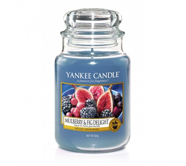 YANKEE CANDLE - Duża Świeca Mulberry & Fig Delight