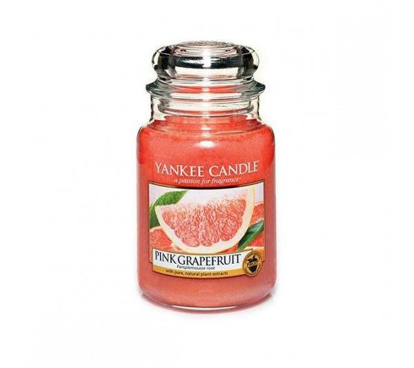 YANKEE CANDLE - Duża Świeca Pink Grapefruit