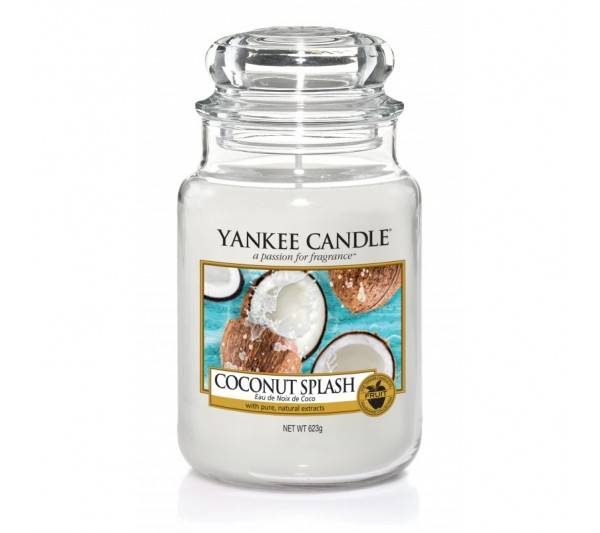 YANKEE CANDLE - Duża Świeca Coconut Splash