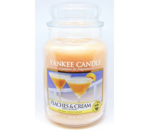 YANKEE CANDLE - Duża Świeca Peaches & Cream