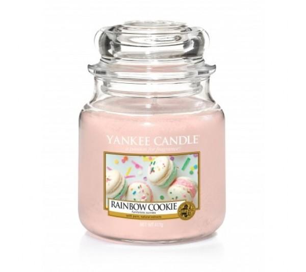 YANKEE CANDLE - Średnia Świeca Rainbow Cookie