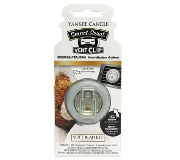 YANKEE CANDLE - car vent clip Soft Blanket