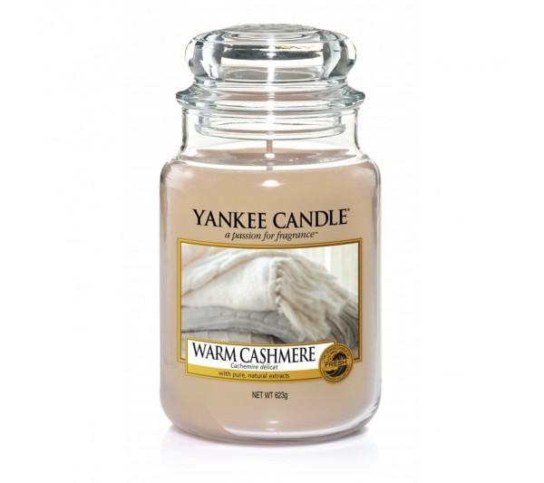 YANKEE CANDLE - Duża Świeca Warm Cashmere