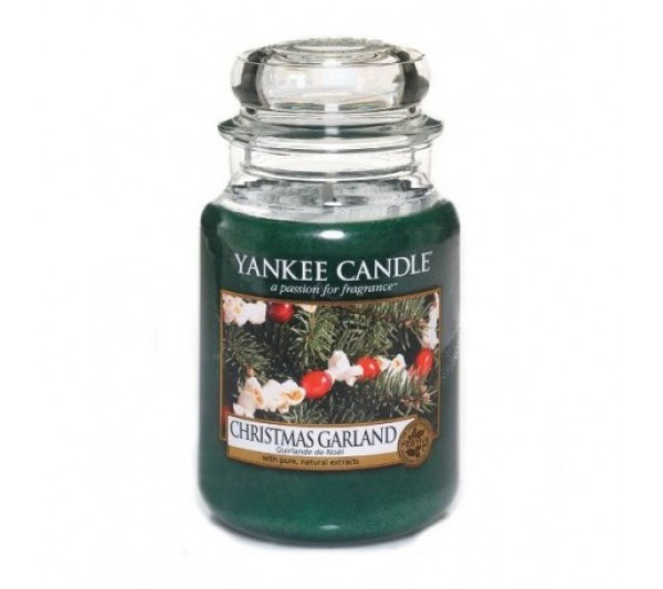 YANKEE CANDLE - Duża Świeca Christmas Garland