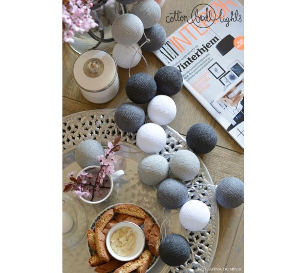 Cotton Ball Lights - Grey shadow