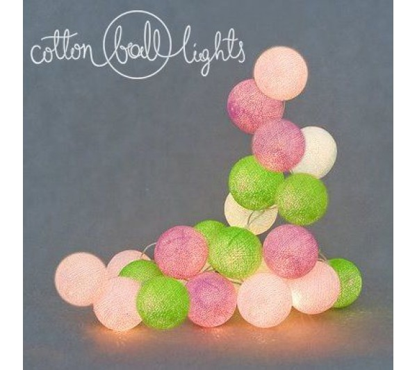 Cotton Ball Lights - Spring