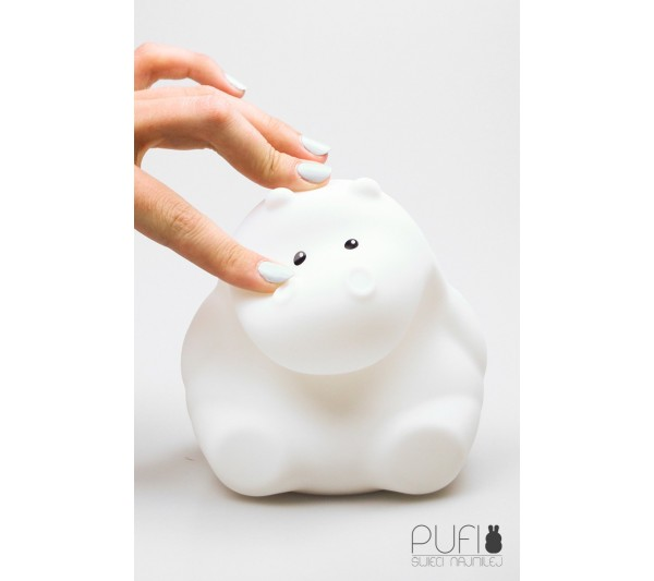 Cotton Ball Lights - Pufi hipopotam