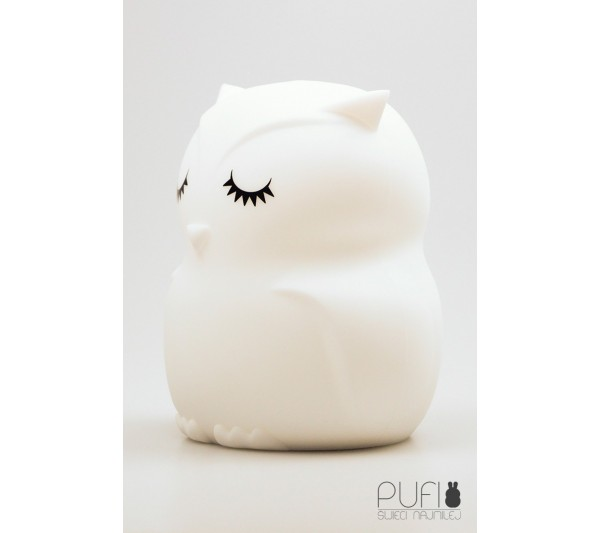 Cotton Ball Lights - Pufi sowa