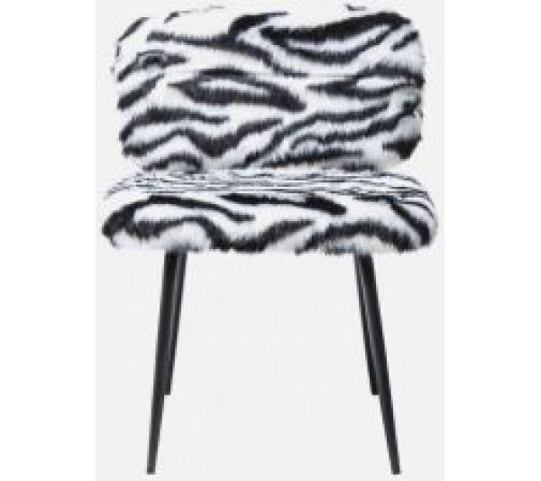 Kare design - Krzesło Yeti Fur Black and White