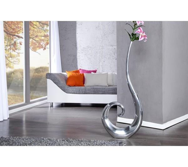 Invicta Interior - Wazon Wave srebrny 106cm
