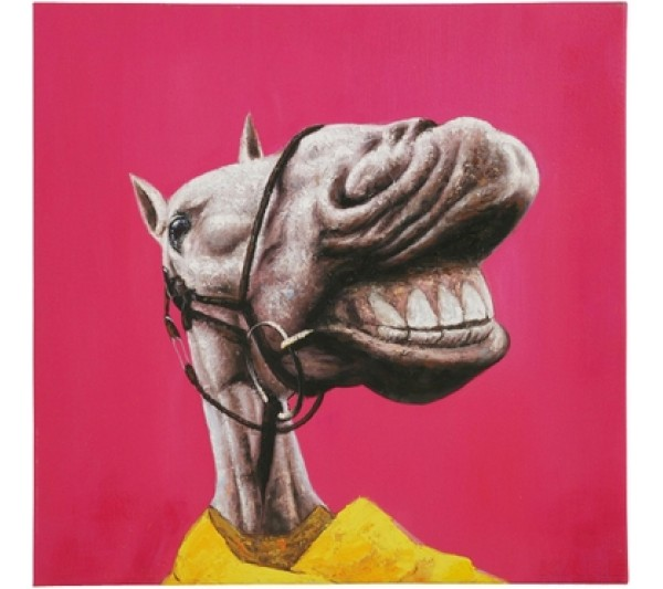 Kare design - Obraz olejny szalone zwierzęta(2) 60X60