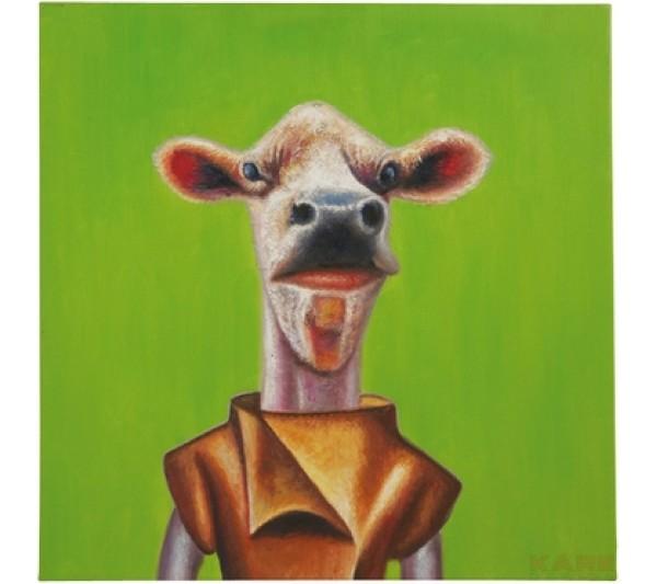 Kare design - Obraz olejny szalone zwierzęta(3) 60X60