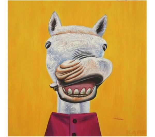 Kare design - Obraz olejny szalone zwierzęta(4) 60X60