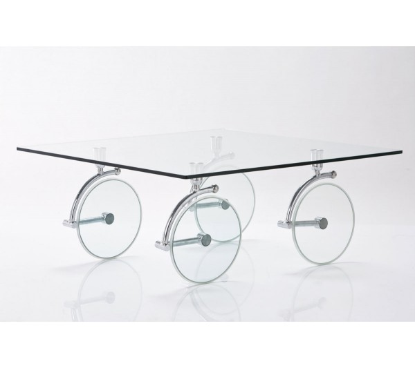 Kare design - Stolik kawowy Wheels 140x80