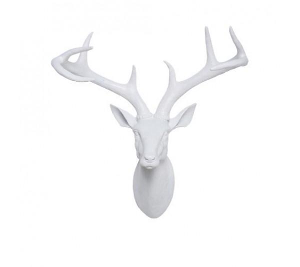 Kare design - Dekoracyjna Głowa Jelenia biała