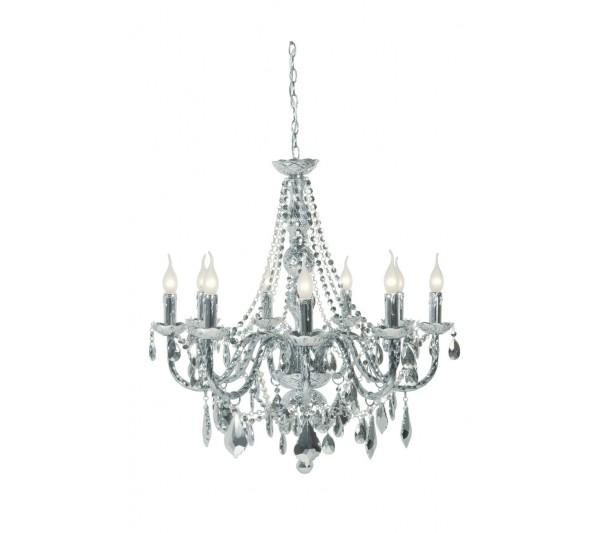 Kare design - Lampa sufitowa Gioiello Chrome 9-ramienny
