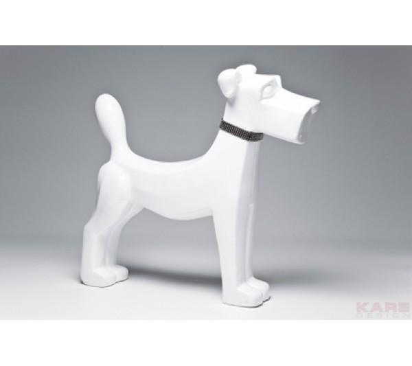 Kare design - Figurka dekoracyjna Pies Biały 26cm