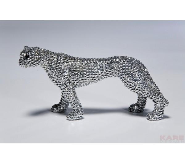 Kare design - Figurka dekoracyjna Leopard Glitter 10cm