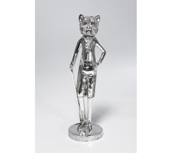 Kare design - Figurka dekoracyjna Gentleman- Dog Silver-1