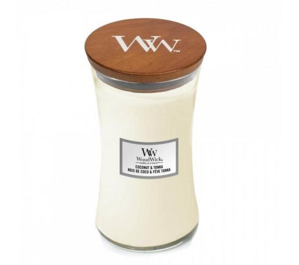 WoodWick Duża Świeca - Coconut & Tonka