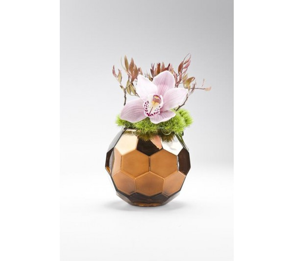 Kare design -  Wazon Noble Brown Round
