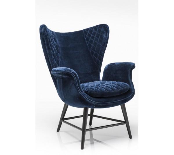 Kare design - Fotel Tudor Blue Velvet
