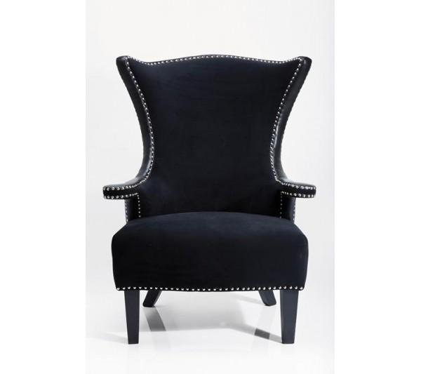 Kare design - Fotel Rivet  Czarny